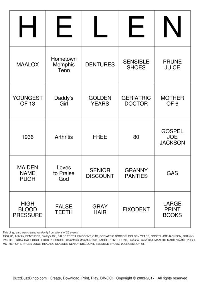 Download Free Happy 80th Birthday!! Bingo Cards
