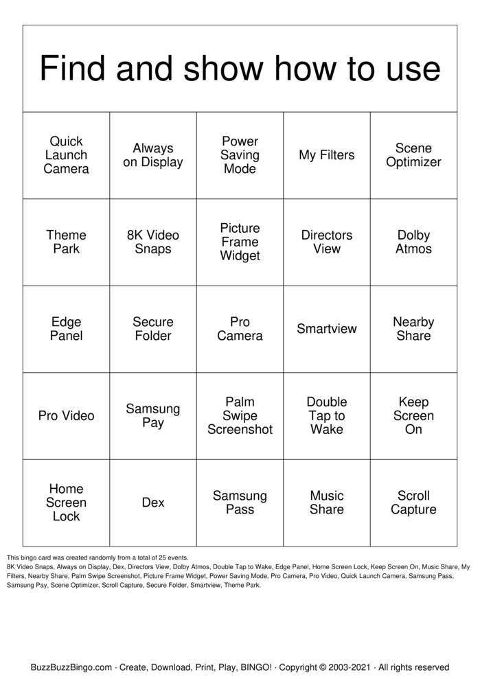 Download Free Hidden Things Bingo Cards