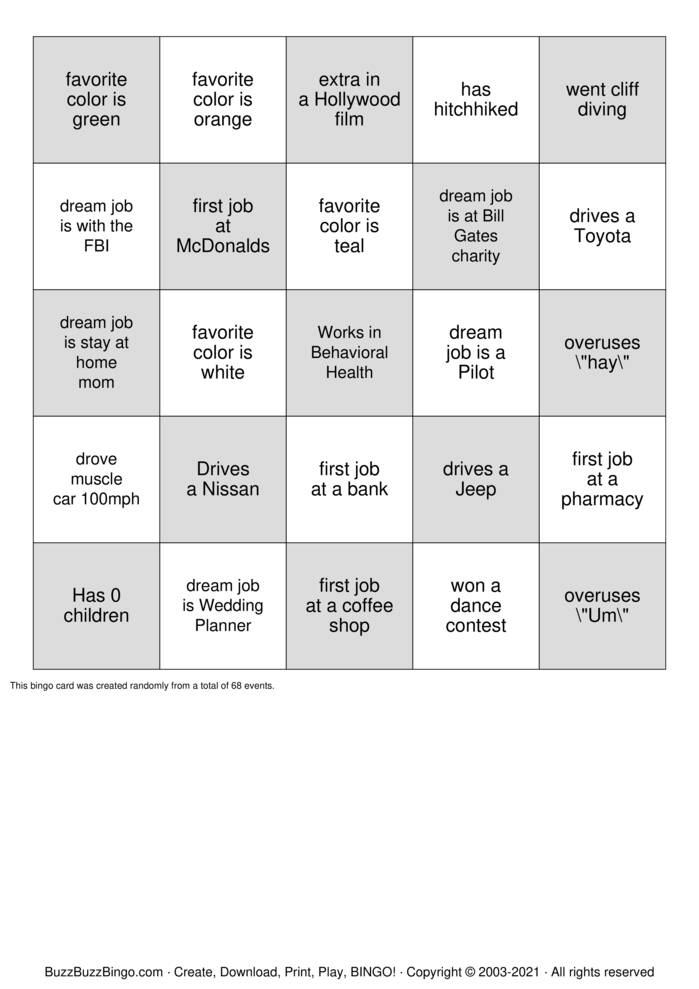 Download Free Team Building Bingo Cards