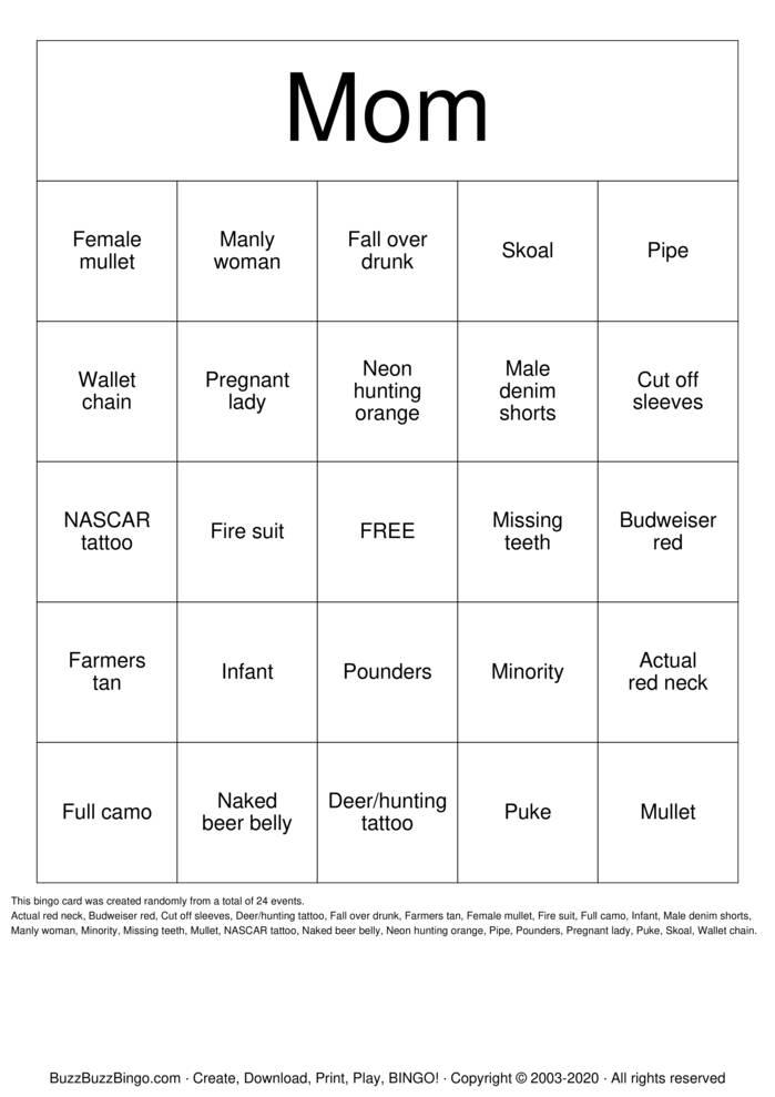 Download Free tattoo Bingo Cards