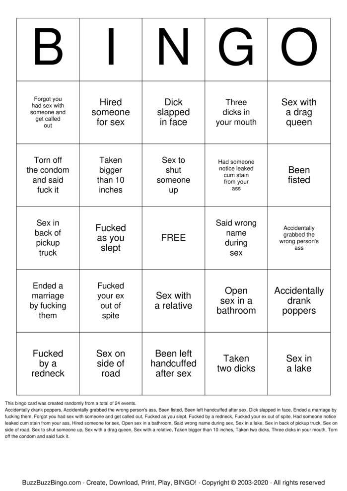 Download Free Dirty Gay Bingo! Bingo Cards