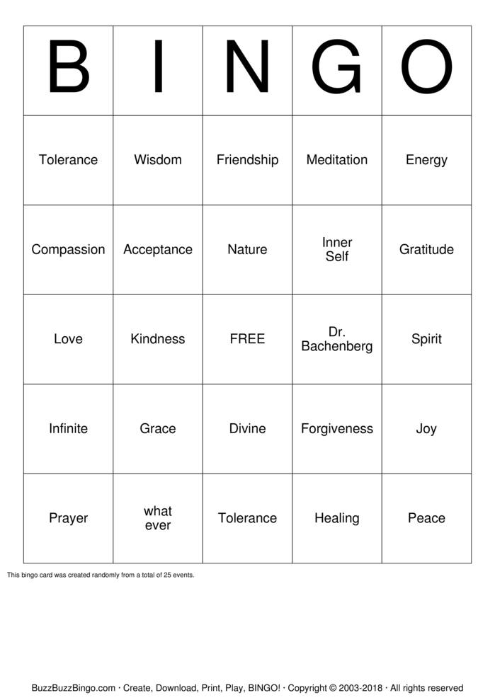 Download Gratitude Bingo Bingo Cards
