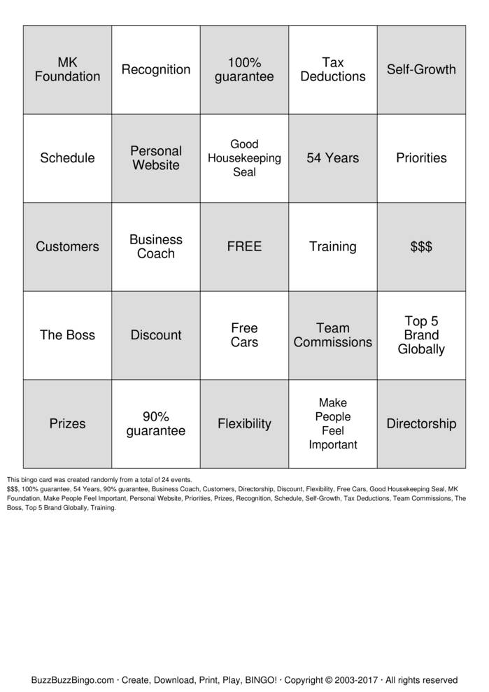 Download Free Discover What You Love Bingo Cards