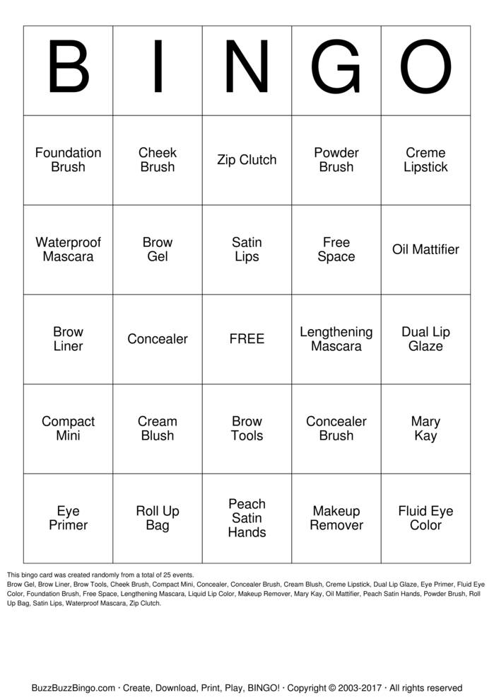 Custom Bingo Card