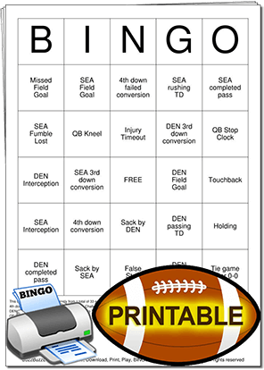 Super Bowl Commercial Bingo Cards 2016 | Search Results | Calendar ...